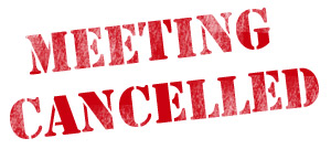 🔺Budget/Finance Meeting Canceled